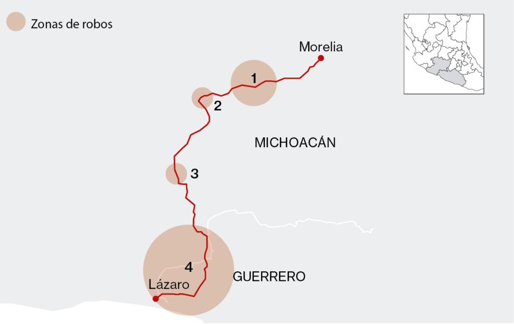 La carretera más peligrosa de Michoacán