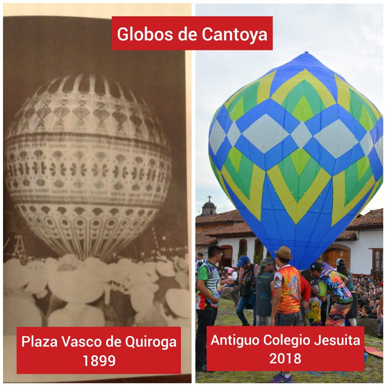 Globos de Cantoya en Pátzcuaro, una tradición que data del siglo XIX