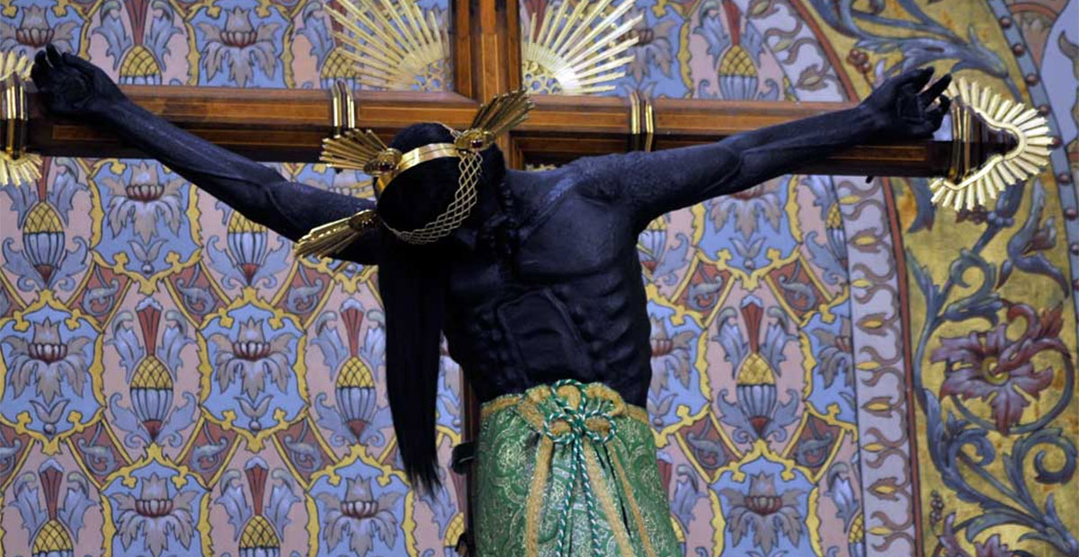 El Cristo Negro que fue hecho en Pátzcuaro en 1543