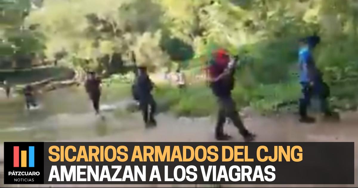 Sicarios armados del CJNG amenazan a Los Viagras (VIDEO