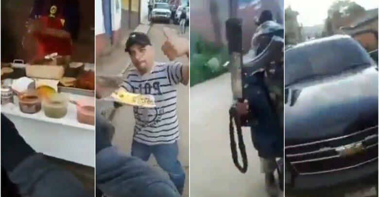 Sicarios en Michoacán salen armados a comprar tacos (VIDEO)