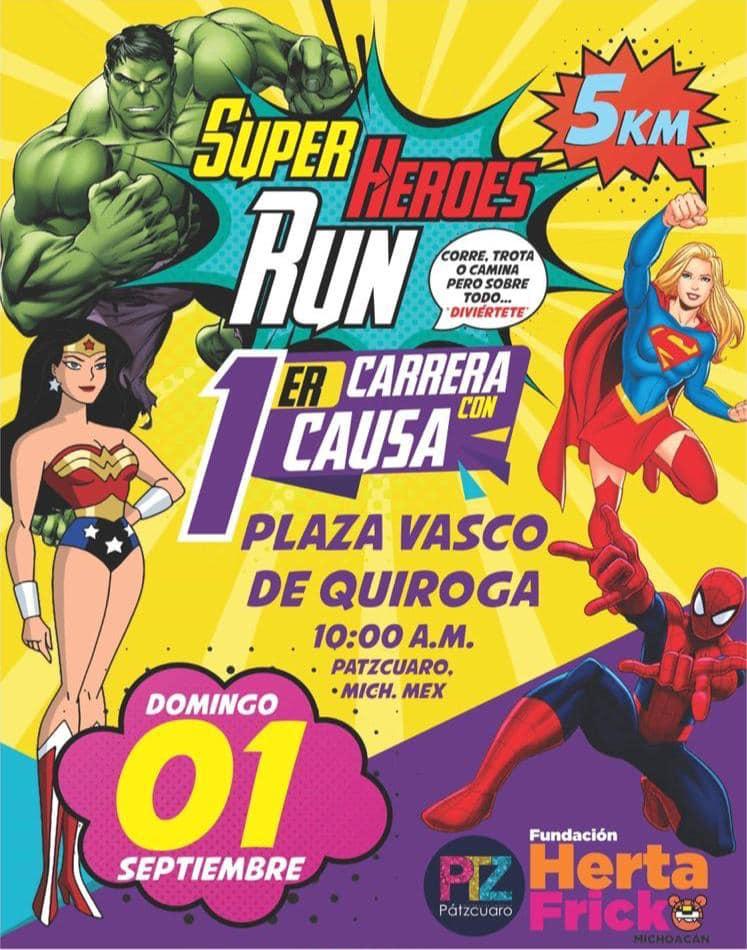 Carrera de superhéroes con causa 5K Pátzcuaro 2019