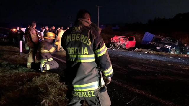 VIDEO del trágico carreterazo de anoche en Michoacán