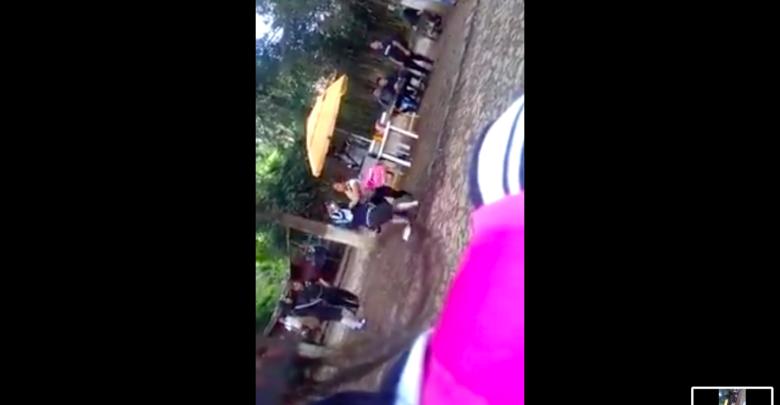 Graban pelea entre supuestas alumnas de secundaria en Pátzcuaro