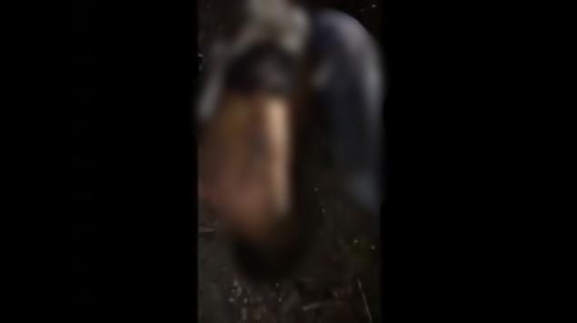 """FUERTE VIDEO: """"¡Yo no maté a nadie!"""". Entre súplicas, desuellan vivo a presunto sicario del CJNG"""