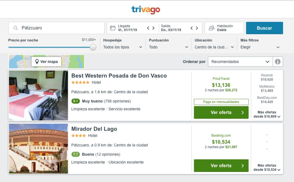 Hasta en 13 mil pesos la noche en Día de Muertos en Pátzcuaro