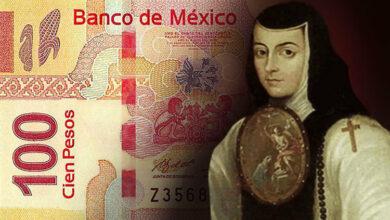 Sor Juana Inés estará en el nuevo billete de 100 pesos