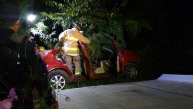 Fuerte accidente automovilístico en Pátzcuaro