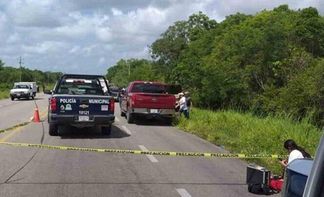 Abandonan 3 cuerpos en la carretera Pátzcuaro - Morelia