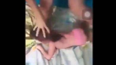 VIDEO: La 'Hiena de Nuevo León', maltrata a su bebé
