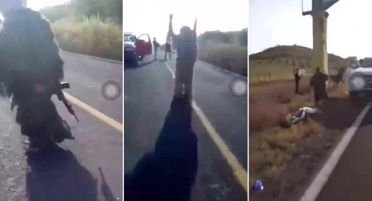 """VIDEO: Los """"Viagras"""" ingresaron a El Aguaje para combatir al CJNG"""