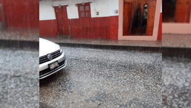 Cae granizo en Pátzcuaro, el primero del 2020