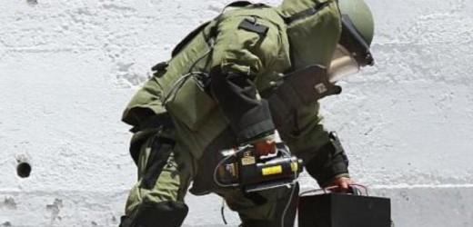 Al lugar llegó el equipo antibombas del Ejército Mexicano.