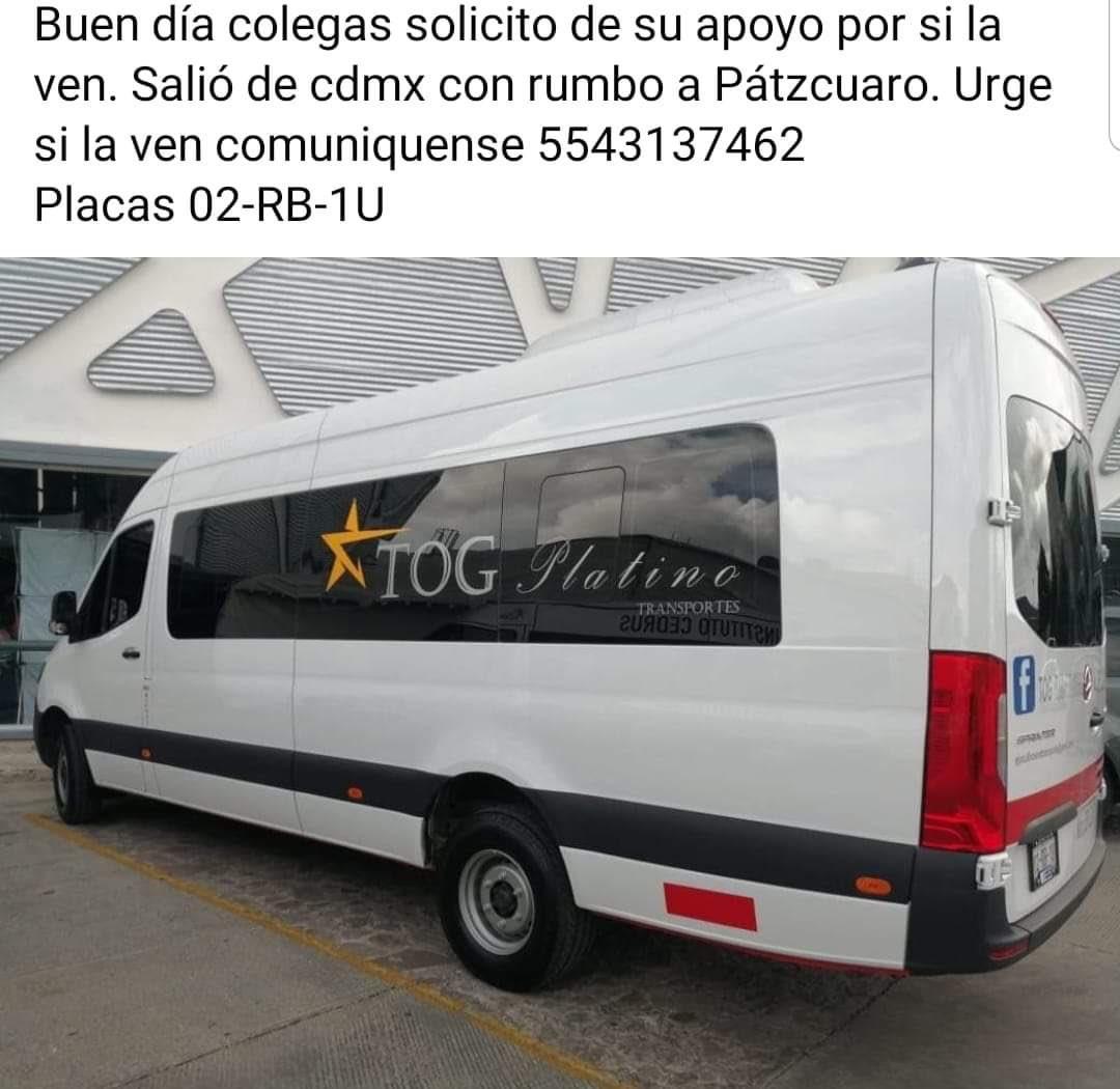 Desaparecieron chofer y pasajeros con destino a Pátzcuaro