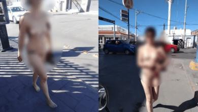 Mujer de Michoacán camina desnuda por las calles