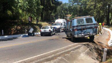 Reportan cierre parcial de la carretera Pátzcuaro-Uruapan por accidente