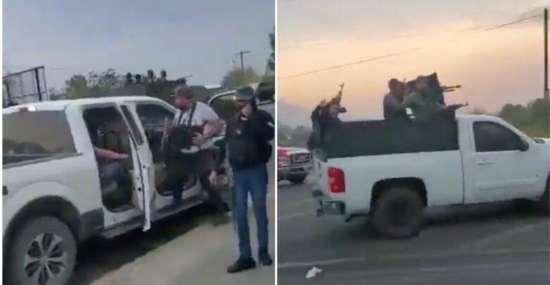 Grupo criminal patrullando calles de Michoacán con total impunidad