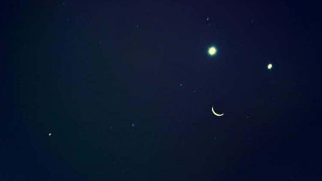 Luna se unirá junto a Venus y Júpiter para formar una sonriente