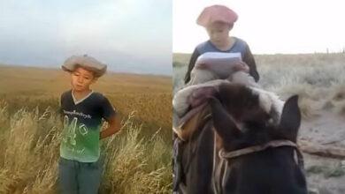 Niño viaja 30 kilómetros a caballo hasta un cerro para conectarse a Internet y enviar su tarea