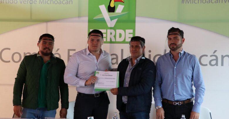 César Osuna del Partido Verde se destapa por la gubernatura de Michoacán