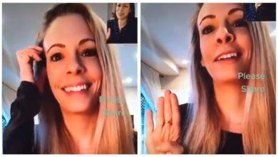 video: Mujer víctima de maltrato hace señal de auxilio por videollamada