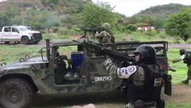 VIDEO: Enfrentamiento entre sicarios y fuerzas armadas en El Aguaje, Michoacán