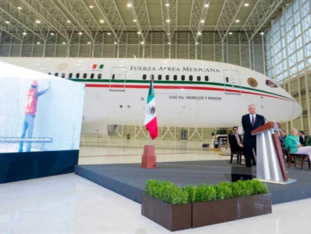 Fotos del lujoso del avión presidencial de México
