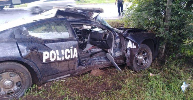 Fuerte accidente de la Guardia Nacional en Pátzcuaro