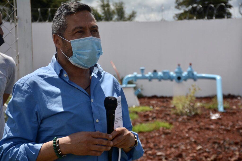 Inaugura Víctor Báez importante obra de agua potable en San Juan Tumbio