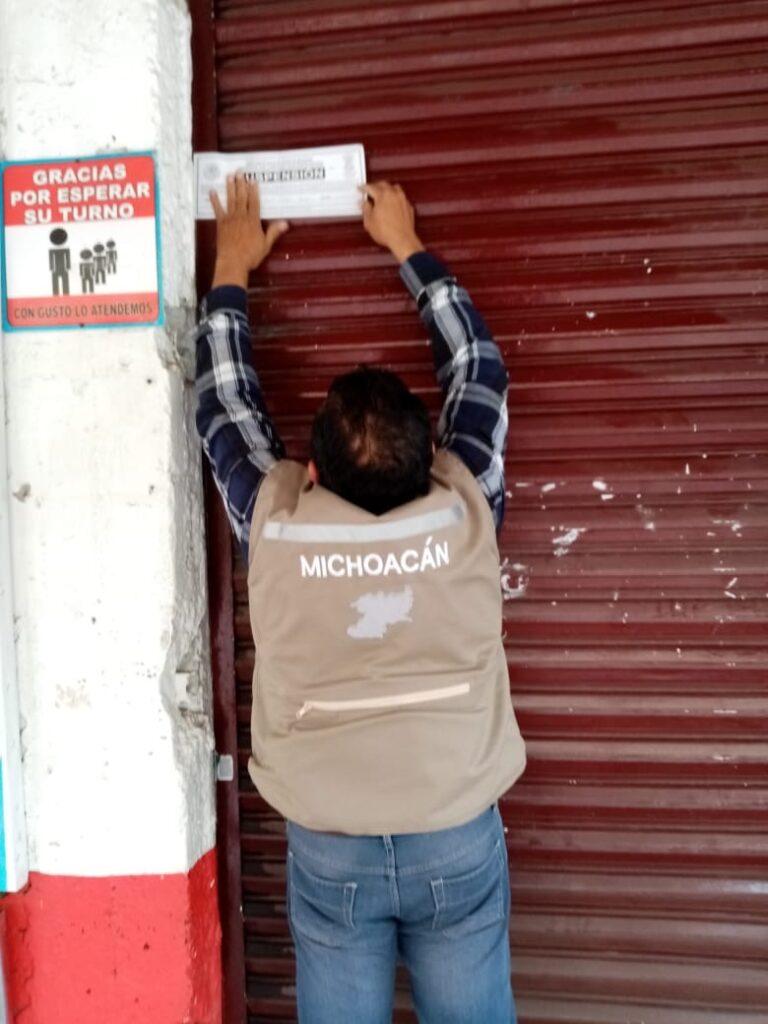 Clausuran 3 negocios del centro de Pátzcuaro