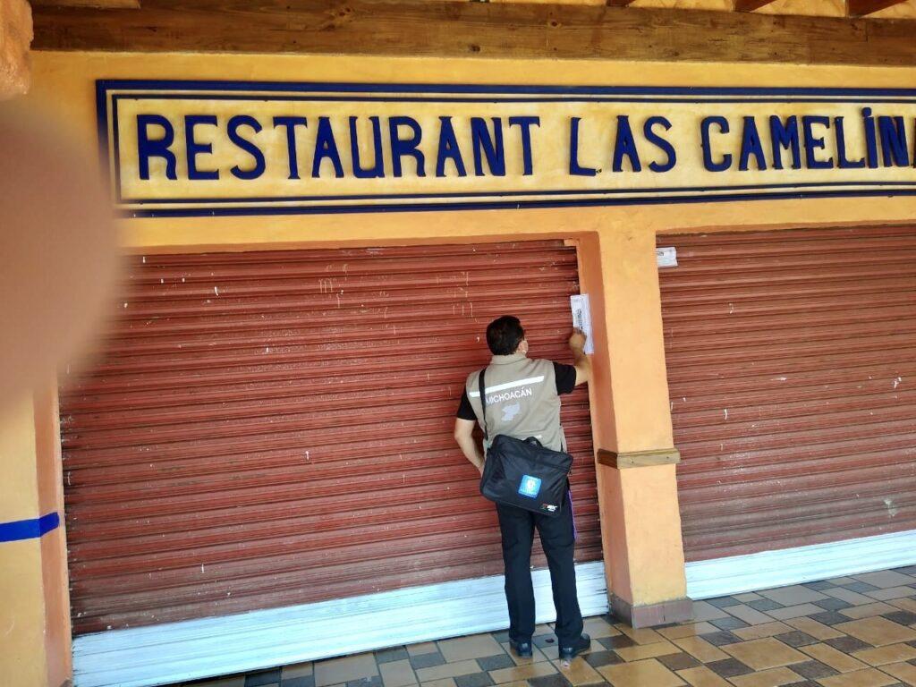 Clausuran 2 negocios más; uno del Centro Histórico de Pátzcuaro