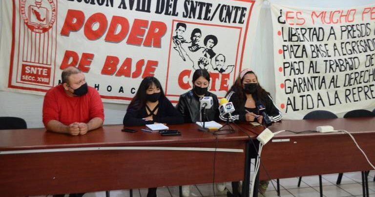 Anuncia CNTE bloqueos en Michoacán