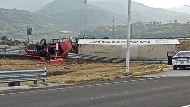 Reportan grave accidente en la carretera Pátzcuaro-Cuitzeo