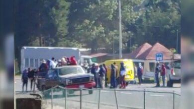 VIDEO: Normalistas y comuneros bloquearon la carretera Pátzcuaro-Uruapan [SAN JUAN TUMBIO]
