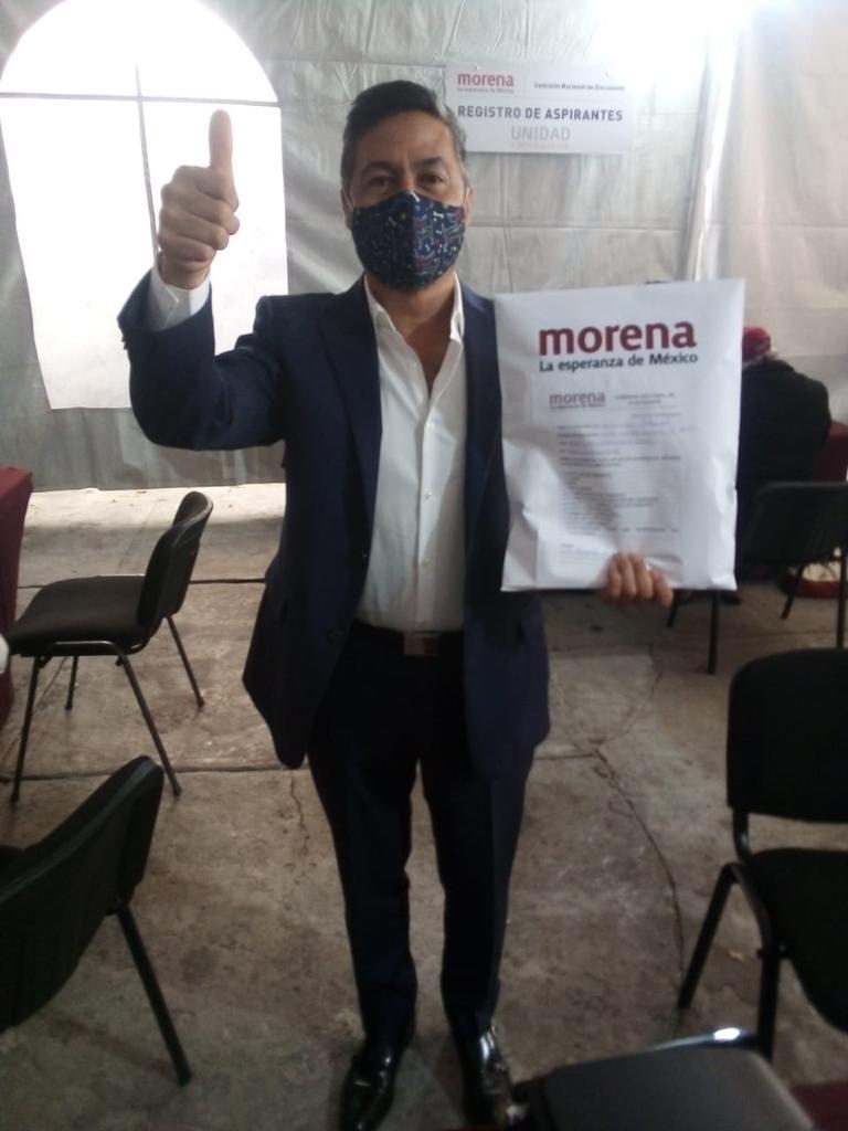 Víctor Báez se registró como precandidato de MORENA al gobierno de Michoacán - Pátzcuaro Noticias