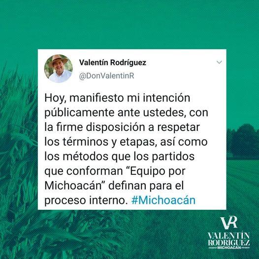 Valentín Rodríguez busca ser gobernador de Michoacán