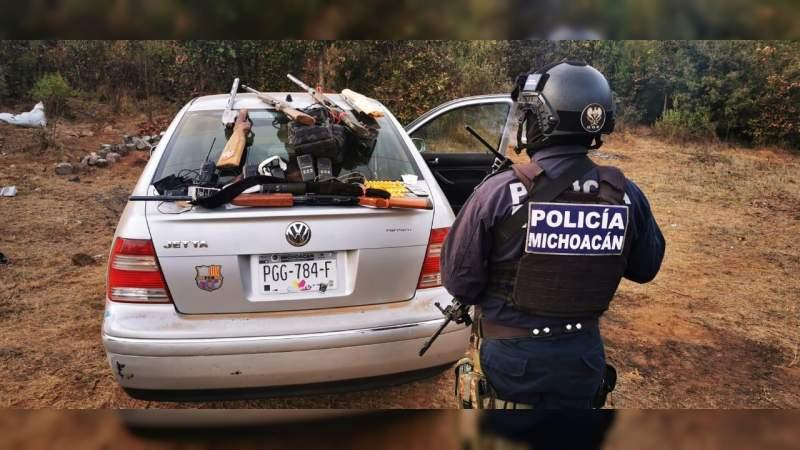 Destruyen un campamento en Santa Juana, poblado de Pátzcuaro