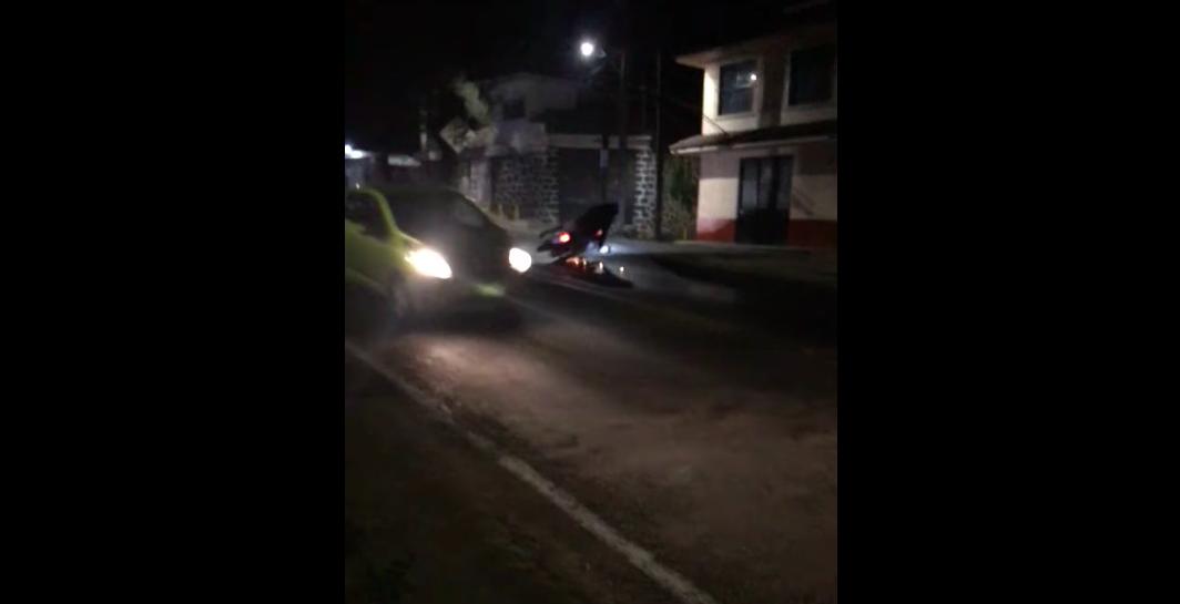 Tiran aceite en carretera de Pátzcuaro; se accidentan motocicletas
