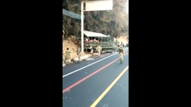 VIDEO: Fuerte accidente de la Guardia Nacional en la carretera Pátzcuaro-Uruapan