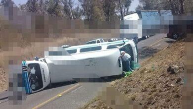 Volcadura de un colectivo deja ocho lesionados en Huiramba