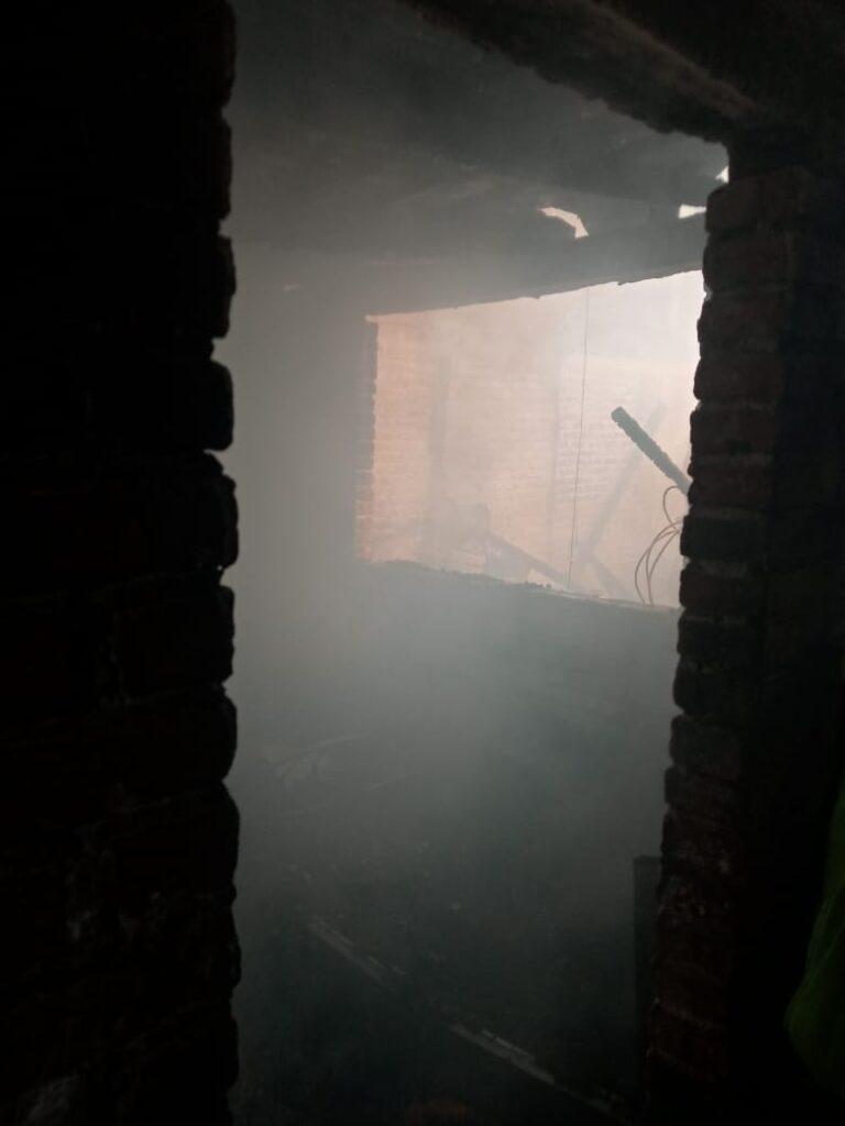 Se incendia casa en Pátzcuaro