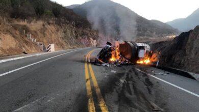 Se registra fuerte accidente en la Pátzcuaro-Lázaro Cárdenas