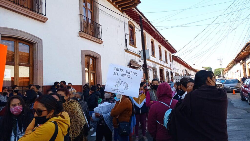 Toman presidencia de Pátzcuaro; vecinos reclaman falta de agua potable en colonias