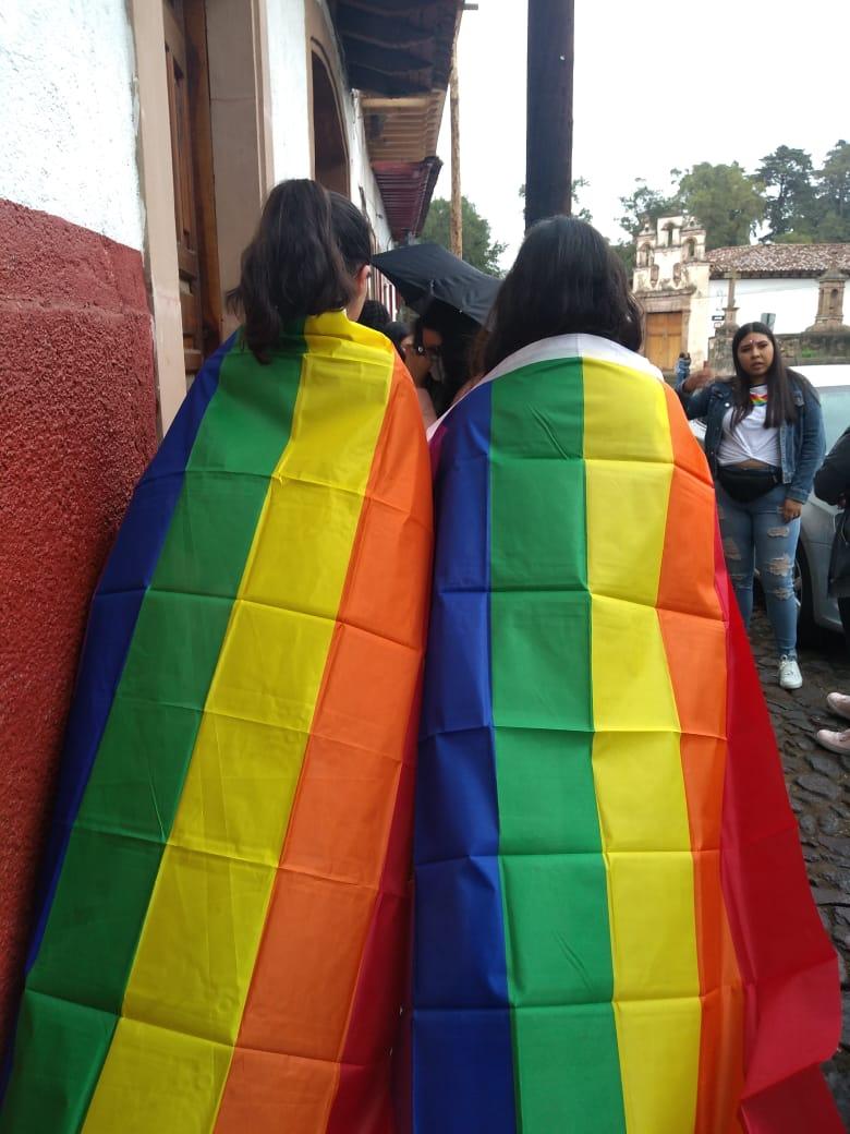 Primera Marcha LGBTTTIQ+ en Pátzcuaro [FOTOS]